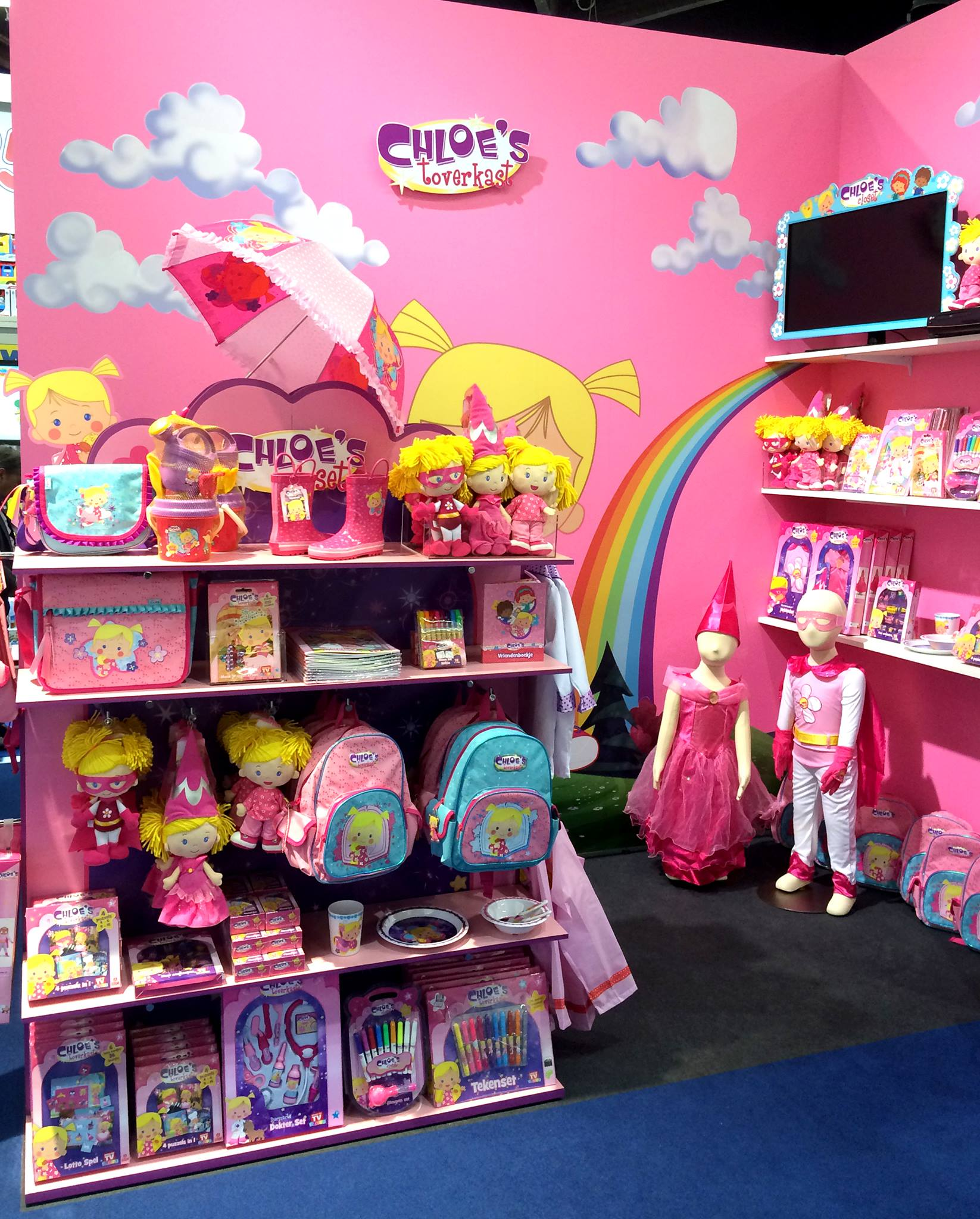 Chloe op de speelgoedbeurs
