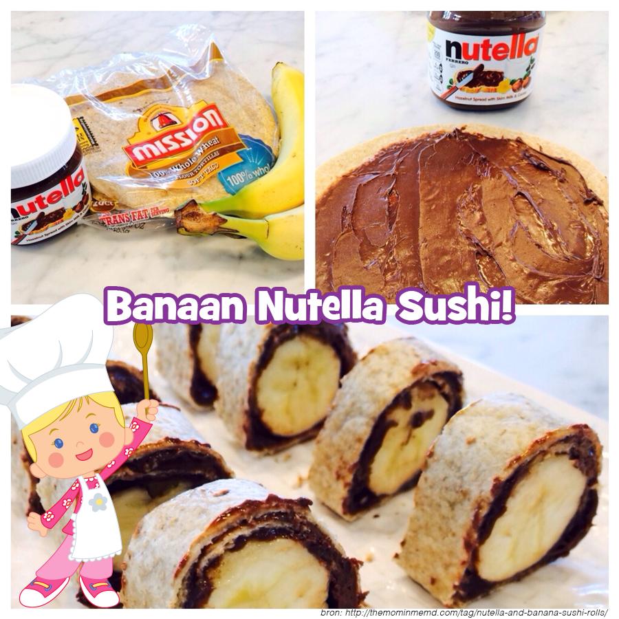 Banaan Nutella Sushi